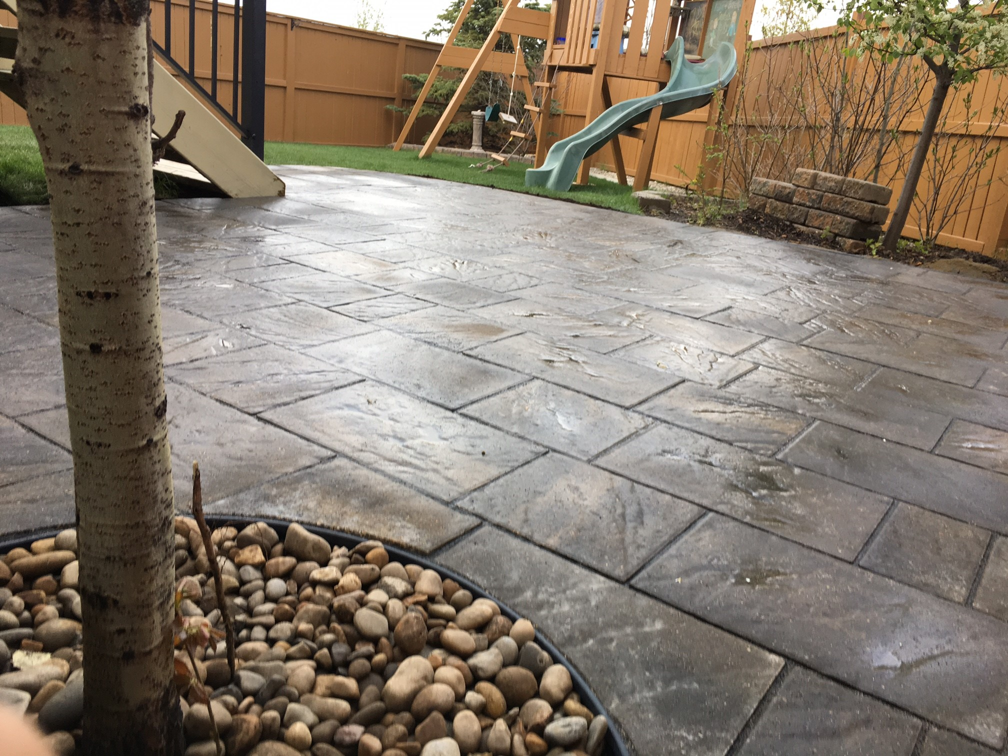 Airdrie Stone Patio