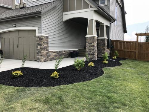 Flower & Shrub beds with mulch