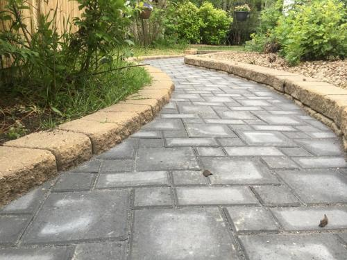 Charcoal Holland paver sidewalk