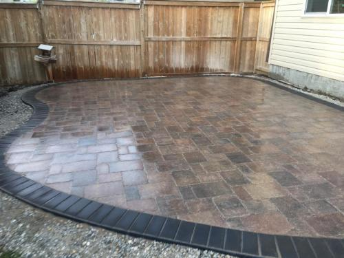 Antique Brown Roman Paver with Holland border and curved edges